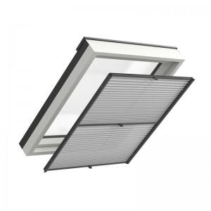 Plisy do okien dachowych z prowadnicami